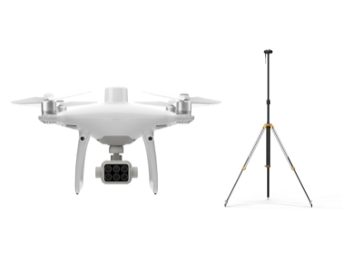 Phantom 4 Multispectral + D-RTK 2  High Precision GNSS Mobile Station Combo